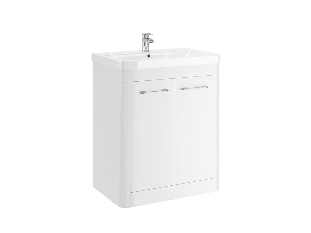 CASI 700MM 2 DOOR FLOOR UNIT WHITE